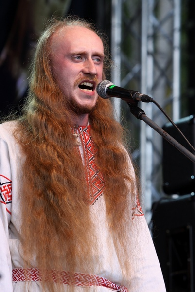 Russian red haired singer