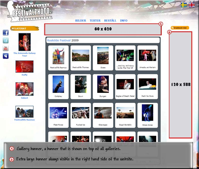 Advertise at Festivalphoto