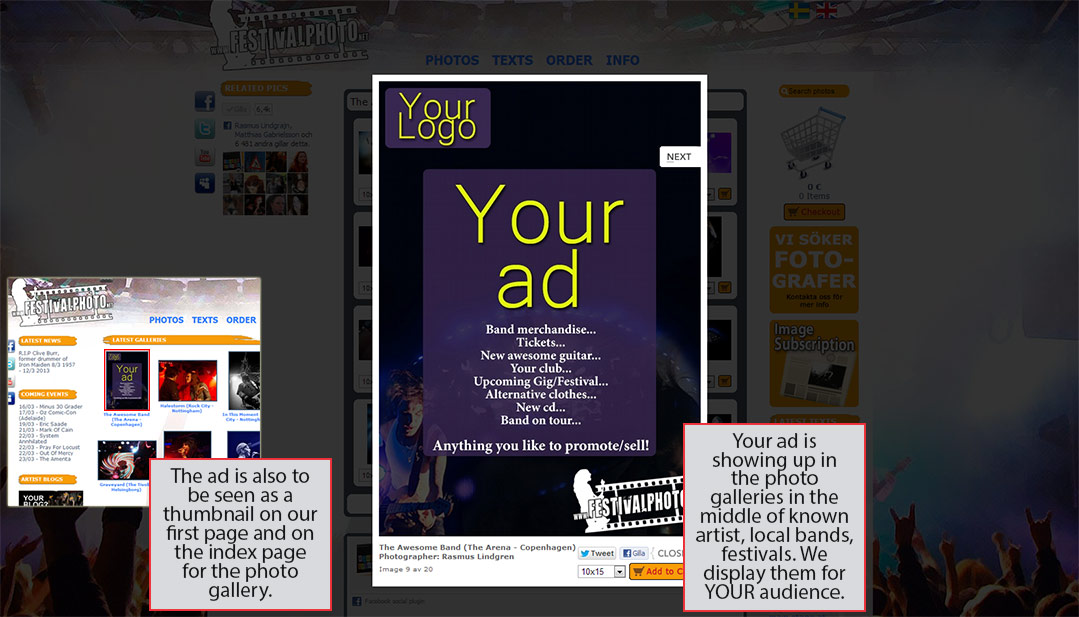 Advertise in our photo galleries