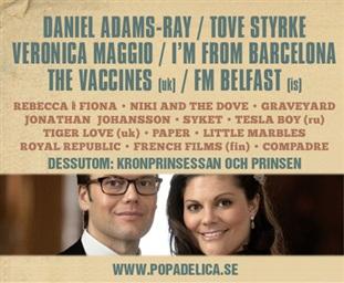 Kronprinsessan Victoria och Daniel kommer till Popadelica