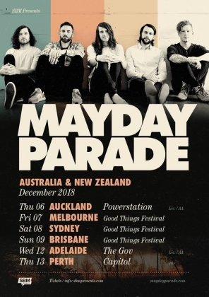 Mayday Parade Adelaide & Perth Good Things Festival Sideshows