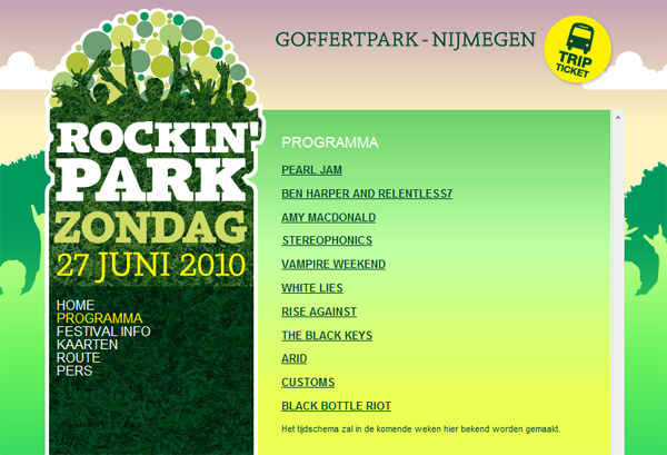 Line-up at RockinPark