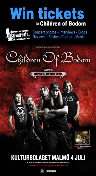 Free tickets to Children of Bodom in Malmö