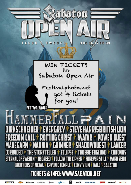 Sabaton Open Air needs 4 metal heads